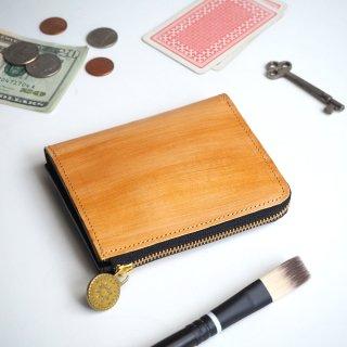 L字ファスナー財布(ペイント ゴールド)