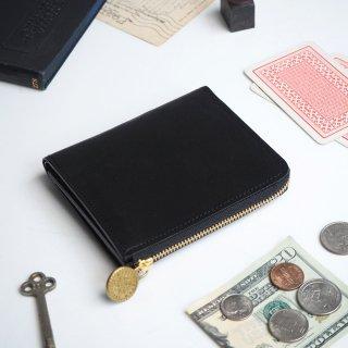 L字ファスナー財布(ブラック)