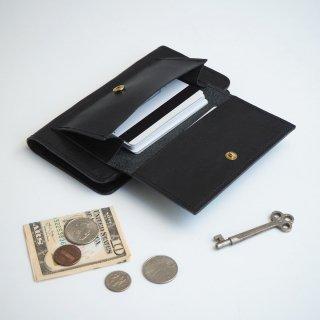 フラップポケット付 アイフォンケース(ブラック)