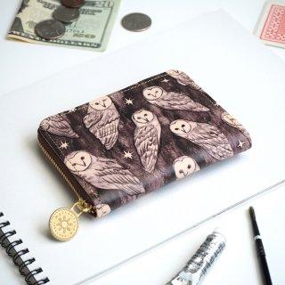 ラウンドファスナー コンパクト財布(ホーリーアウル)