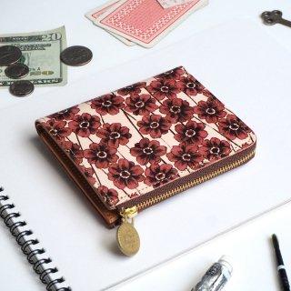 L字ファスナー財布 (チョコレートコスモス)