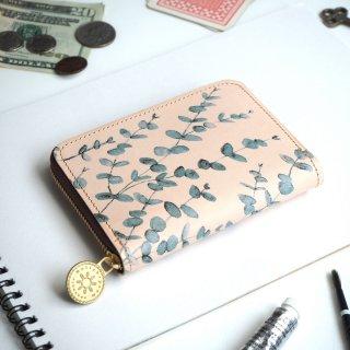 ラウンドファスナー コンパクト財布(ユーカリ)