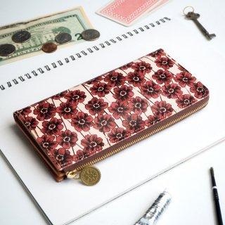 L字ファスナー長財布(チョコレートコスモス)