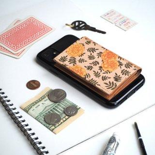 忘れ物をしなくなる iPhoneカバー(ヴィンテージ マリーゴールド)牛革 TPUソフト