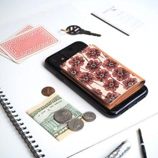 忘れ物をしなくなる iPhoneカバー(チョコレートコスモス)牛革 TPUソフト