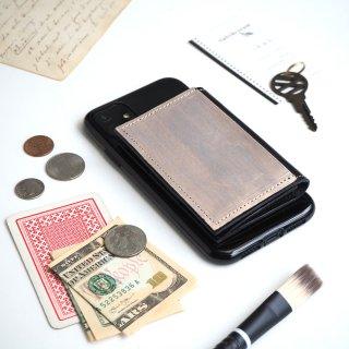 忘れ物をしなくなる iPhoneカバー(ペイント シルバー)牛革 TPUソフト