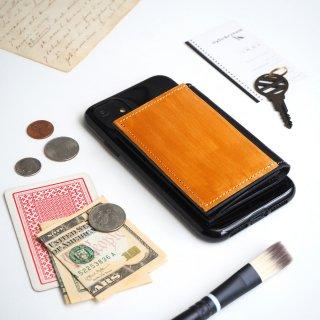 忘れ物をしなくなる iPhoneカバー(ペイント ゴールド)牛革 TPUソフト