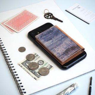 忘れ物をしなくなる iPhoneカバー(スターリー ナイト)牛革 TPUソフト