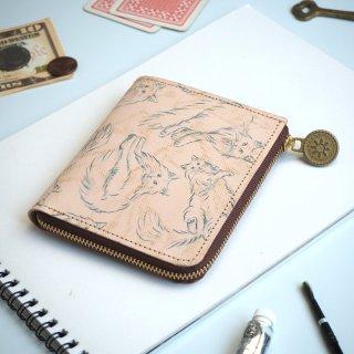 L字ファスナー財布 (ノルウェージャン フォレスト キャット)