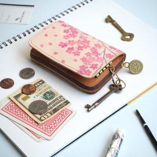 キーウォレット [ ミニ 財布 + キーケース ](サクラ)