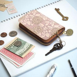 キーウォレット [ ミニ 財布 + キーケース ](グレイッシュ ジニア)