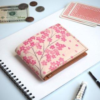 二つ折り財布(サクラ)