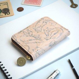ラウンドファスナー コンパクト財布(ノルウェージャン フォレスト キャット)