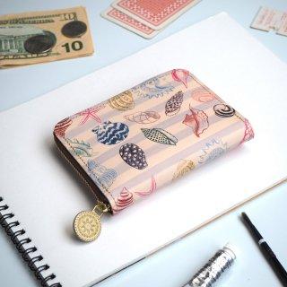 ラウンドファスナー コンパクト財布(メリー シェル)