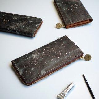L字ファスナー長財布(12星座の星空)