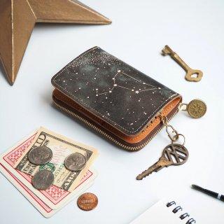 キーウォレット [ ミニ財布 + キーケース ](12星座の星空)