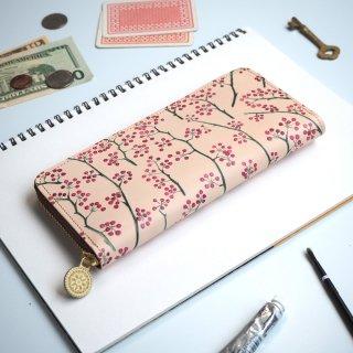 ラウンドファスナー長財布(アカイミ)