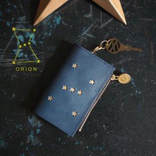 片マチ ファスナーポケット付キーケース(ORION ナイトブルー)