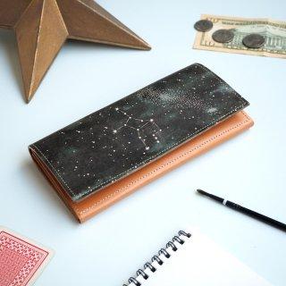 フラップ長財布(12星座の星空)