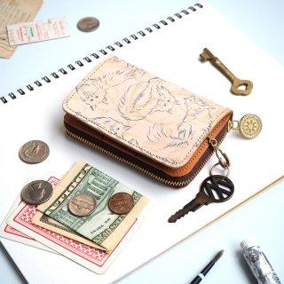 キーウォレット [ ミニ 財布 + キーケース ](ノルウェージャン フォレスト キャット)