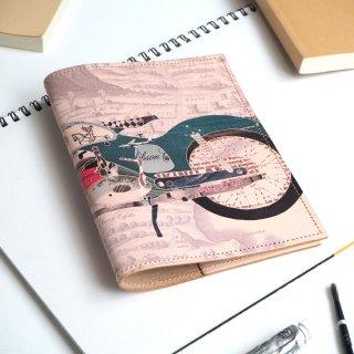 文庫本 ブックカバー(レトロバイク)