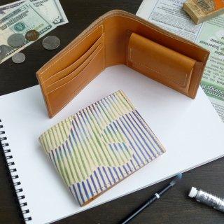 二つ折り財布(オーロラ ストライプ)