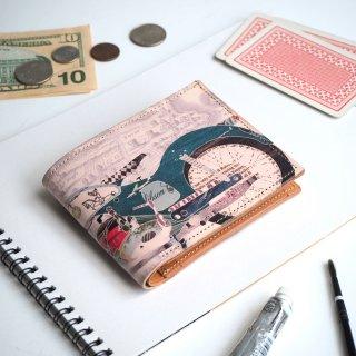 ハーフウォレット/二つ折り財布(レトロ バイク)