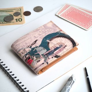 二つ折り財布(レトロ バイク)