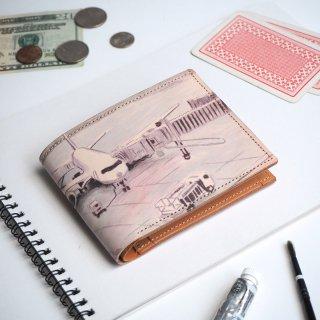 ハーフウォレット/二つ折り財布(デパーチャー エアポート)