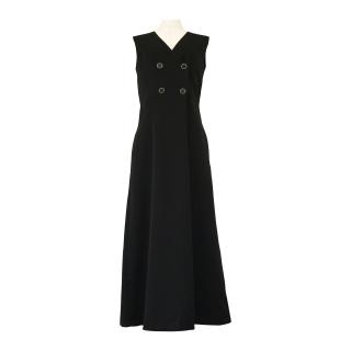 suit fabric double button allinone(black)