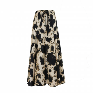 【予約】splash pattern flare skirt