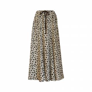 Heart leopard flare skirt