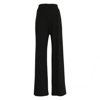 slit design rib pants(black)