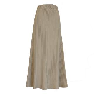 rib flare skirt(beige)