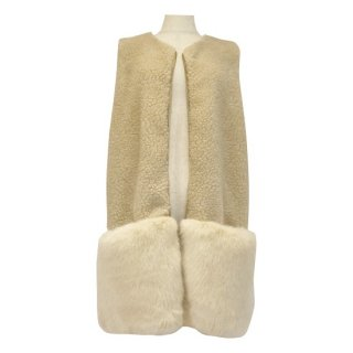 <img class='new_mark_img1' src='https://img.shop-pro.jp/img/new/icons56.gif' style='border:none;display:inline;margin:0px;padding:0px;width:auto;' />combination fur vest(ivory beige)