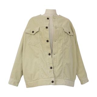 no collar corduroy jacket(ivory)