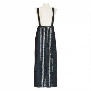 center fringe denim skirt(black)