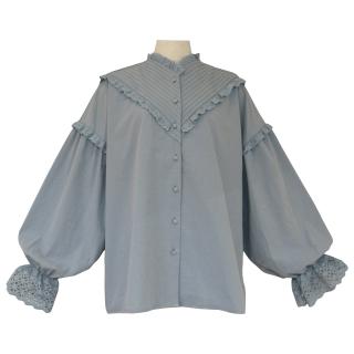 pin tuck frill blouse(sora)