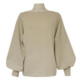 volume sleeve tops(beige)