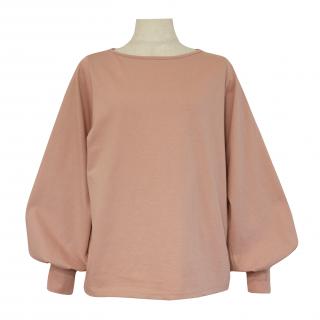 volume sleeve tops(dusty pink)