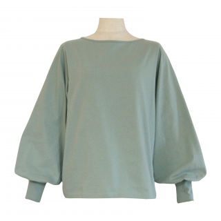 volume sleeve tops(dusty blue)