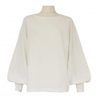 volume sleeve tops(white)