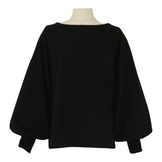 volume sleeve tops(black)