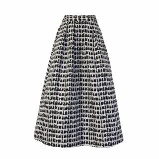 lady Jacquard skirt(black check)