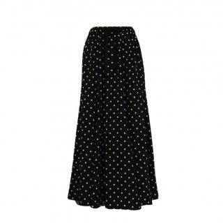 dot  flare skirt(black)