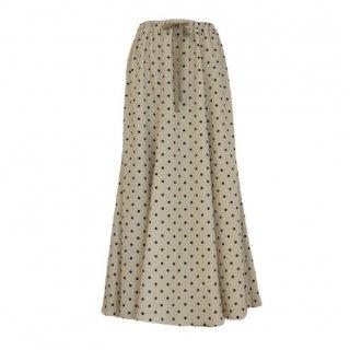 dot  flare  skirt(beige)
