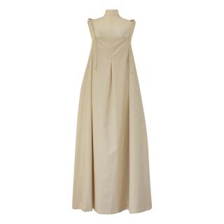 ribbon strap tuck design op(milky beige)