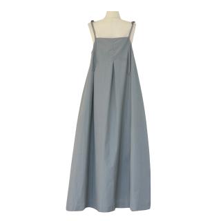 ribbon strap tuck design op(blue grey)