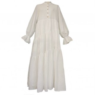 cotton jacquard tiered onepiece(white)