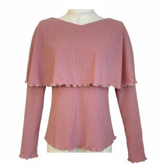 cape rib tops(pink)